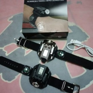 jual Jam digital senter LED murah meriah charger