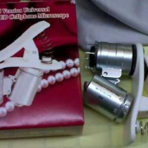 Mikroskop mini jepit handphone 60x