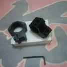 Mounting Double Baut Dudukan Tele senapan angin