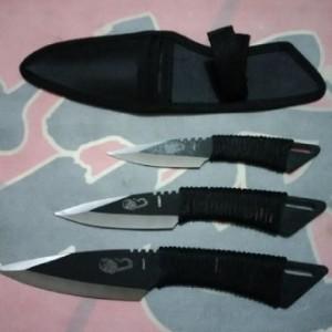 jual Paket pisau lempar isi 3 cobra/ scorpio pisau naruto kunai Tali SG
