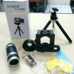 Jual Teropong Handphone telescope HP 8x dengan tripod mini