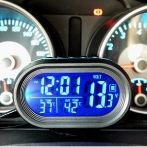 pengukur suhu dan Volt Meter Mobil 4in1 Plug and play