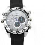 Jam kamera Night vision 8 Giga Black perak tali karet strap infra merah