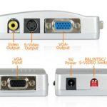 konverter converter VGA ke Video/ dari PC ke TV