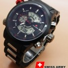 Jam tangan Swiss Army double Time Black Red