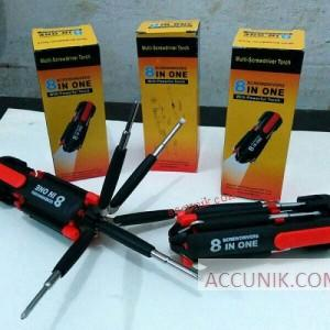 Jual Obeng Senter led (8mata)