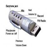 Jual murah Voice recorder Pena, mp3, FM radio 8 Giga