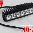 Jual Lampu Tembak sorot mobil motor terang LED Bar Putih 18 W,