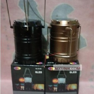 Lampu Lentera 3 sumber listrik, batre dan tenaga matahari