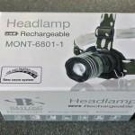Jual Headlamp 6801 Zoom 1 led Putih termurah dan berkualitas