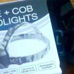 Jual Headlamp 2 Lampu 1 batre LED dan COB terang Putih