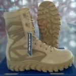 sepatu PDL boot Bates tinggi hitam dan gurun aneka ukuran
