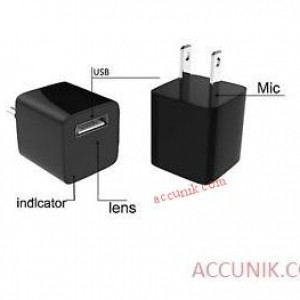 Jual Kamera Spycam USB mini Adapter charger tersembunyi 8 giga
