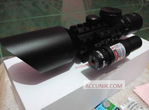 Tele m9 3 10x42 laser merah gm 1 grosir dan eceran accunik