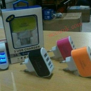 Charger Batok murah 3 USB colorful TLT