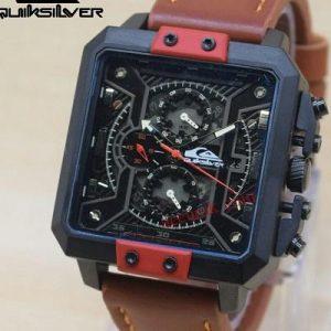 Jam tangan Quiksilver Battle Brown In the Black Red (kotak)
