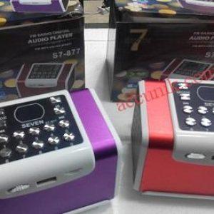 Jual Speaker Portable Seven S7 kotak suara bagus sekali ada FM radio