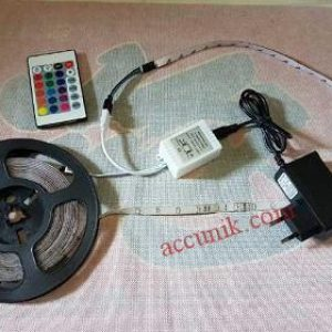 Lampu LED strip 3 warna dengan remote 54LED (5 meter)