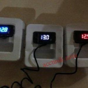 Mini Volt meter mobil motor 3 digit (hanya voltmeter)