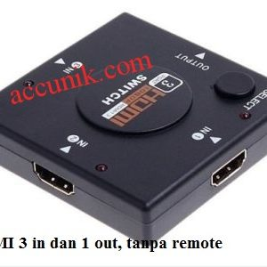 Jual Switch HDMI Port 3 in dan 1 out manual (tanpa remote)