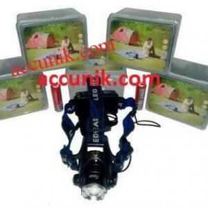 Jual senter kepala LED T6 Headlight / Headlamp 2 batre AY