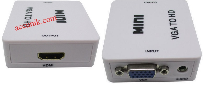 Jual Converter Konverter VGA Ke HDMI Ada Audio Type Mini