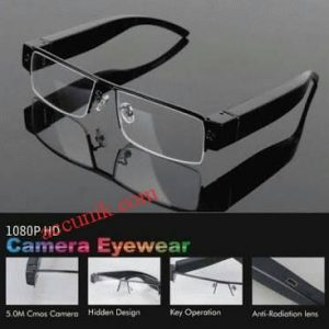 Jual Kamera pengintai Spy cam kamera kacamata HD 1080 Frame tebal