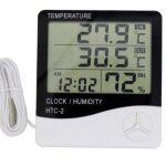 jual Jam meja serba guna digital thermometer hydrometer 2 Sensor suhu