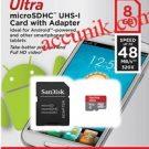 Jual MicroSD Sandisk 8 GB Class 10 Speed 48 mb/s