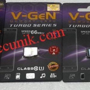 Jual Murah memory Microsd V-GEN Turbo class 10 16GB (66MB/s) 100rb