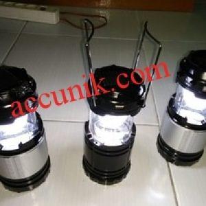 Jual Lampu lentera senter charger listrik + matahari seri KT