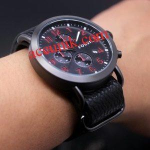 Jam tangan Fossil R1142-2 Red Black