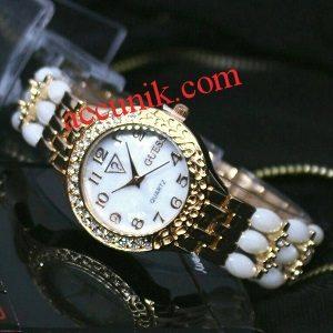 Jam Tangan merk Guess R1165-1 white gold