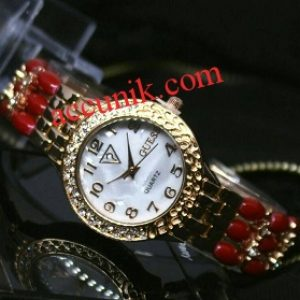Jam Tangan merk Guess R1165-3 Red gold