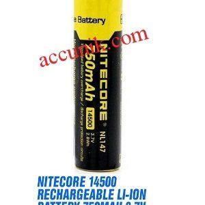Baterai charger 14500 NITECORE kapasitas 750mAh 3.7V
