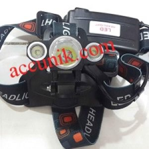 Senter kepala 3 LED Head lamp triple LED T6 1825fokus