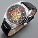 Jam rolex otomatis leather full black type 5 leather