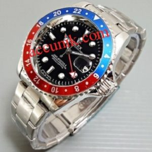 Jam tangan rolex submarine Silver Blue Red
