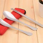 Jual sendok garpu stainles sumpit paket lengkap tingal pakai murah