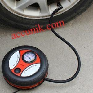 Pompa Ban kompresor portabel murah meriah 12 volt untuk mobil dan motor bentuk Roda FC