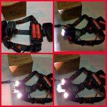 Senter kepala 3 LED T6 + 2 batrei zoom tipe 17