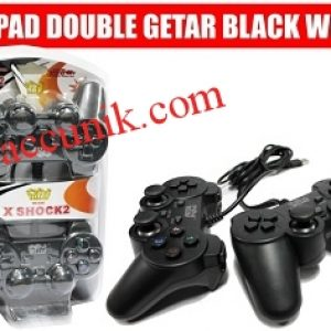 Game pad getar / stik game double welcom USB stik (harga sepasang)