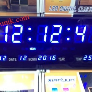 Jual Jam dinding Digital warna Biru / digital clock LED display