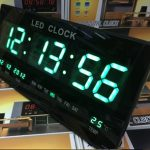 Jual Jam dinding Digital warna hijau / digital clock LED display