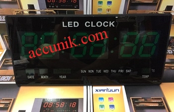 Jual Jam dinding Digital warna hijau / digital clock LED display