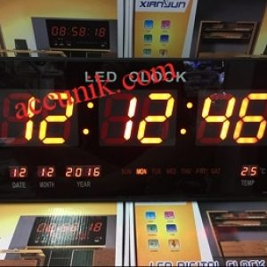 Jam dinding Digital warna merah / digital clock LED display serbaguna lengkap