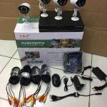 Jual paket 4 kamera outdoor kabel accunik terpercaya
