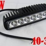 Lampu sorot mobil Tembak kabut 6 LED Bar warna kuning 12volt -16 voltsingle
