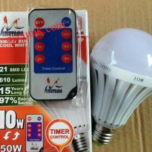 lampu timer LED 10 watt remote