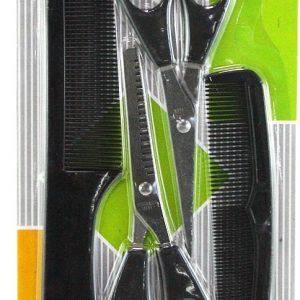 Murah alat set pangkas rambut gunting dan sisir isi 4
